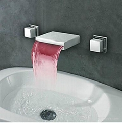 LED bathroom basin Waterfall Faucet,basin tap