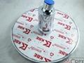 8寸LED圆形自发电温控三色淋浴顶喷花洒喷头 5