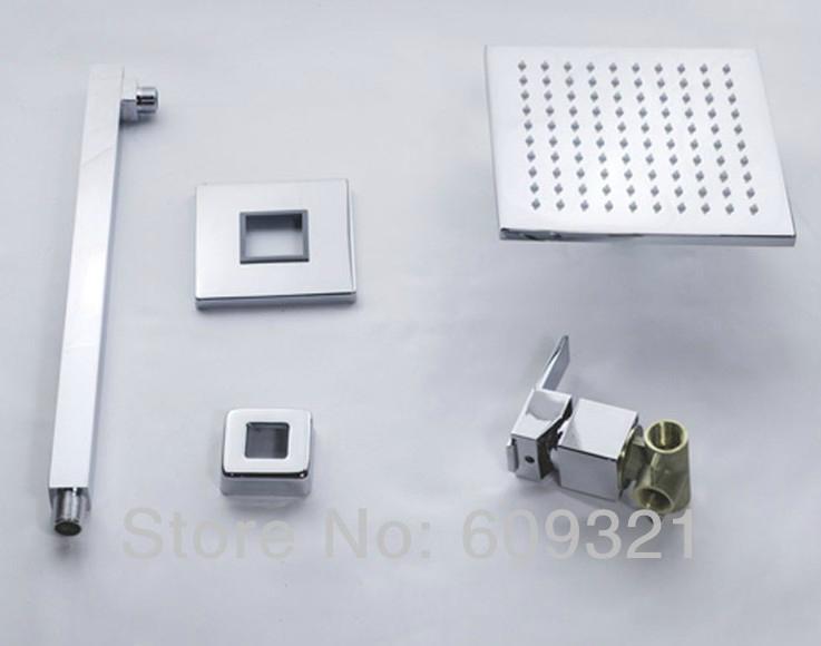 全銅 暗裝淋浴龍頭套裝 LED入牆暗裝淋浴 嵌入式花灑 酒店工程 4