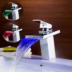 全銅LED三色控溫發光冷熱瀑布