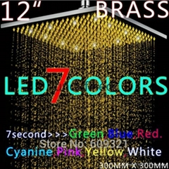 brass 12 inch square LED