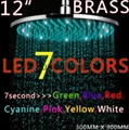 全銅12寸圓形LED發光七彩變