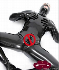 latex man catsuit with penis tight underwear