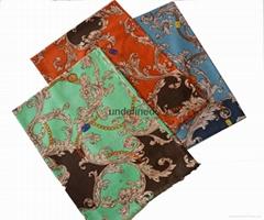 ladies high quality winter warm print woolen scarf