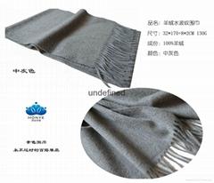 工廠定製高品質克什米爾純色精品羊絨圍巾