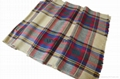 men's winter warm fashion wool checked scarf