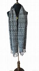 2016 winter warm latest  fashion 100% wool jacquard scarf