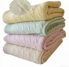 內蒙古工廠定製批發高檔針織100%純羊絨毛毯