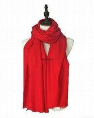 2016新品客戶定製禮品中國紅高檔羊毛圍巾