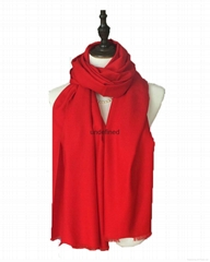 2016 latest fashion winter pure color woolen scarf