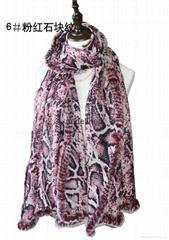 內蒙古高品質定製羊毛加獺兔毛印花圍巾