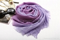 high quality gradient color crinkled woolen scarf