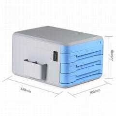 Desktop Organizer with Combination Lock, EVERTOP 3 Drawer File Cabinet Office