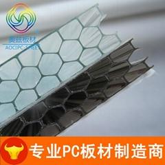 蜂窩PC陽光板廠家加強型蜂窩狀透明pc板