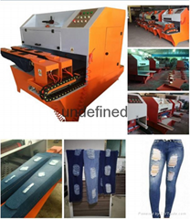 Newest Denim Jeans Grinding Machine for Ripped Jeans