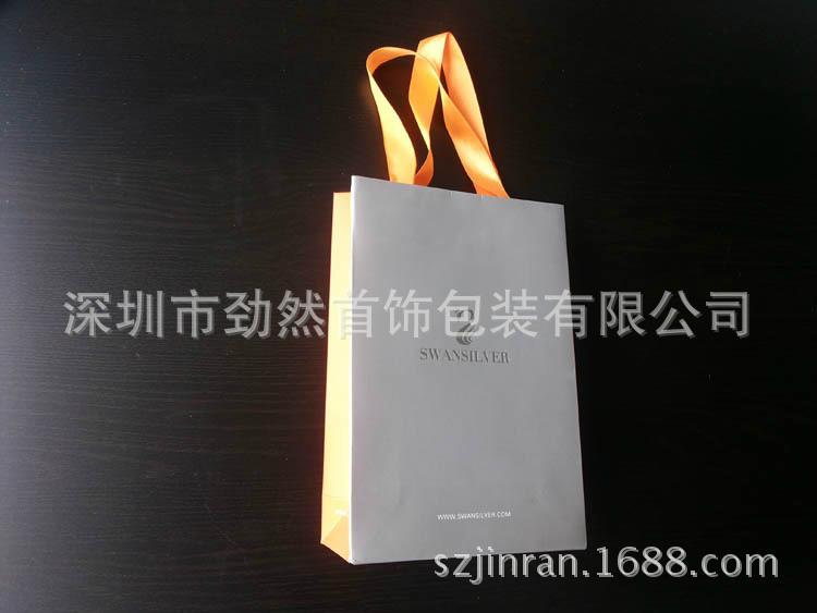 礼品袋铜版纸印刷银饰手提袋 1