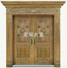 YDF-8039羅馬柱雙開門(金古銅自由紋鐵藝)