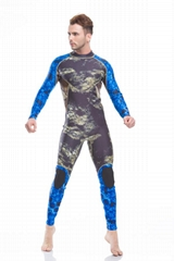 Hot Sale Neoprene Camouflage Sportswear Wetsuit with Rubber Knee Pad