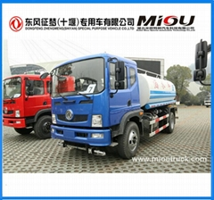 Dongfeng 4x2 10000 liter stainless steel water tank truck