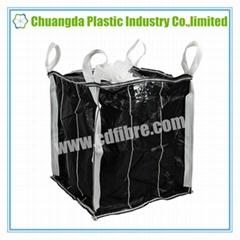 Carbon Black FIBC Big Bulk Bag Super Sack with Spout