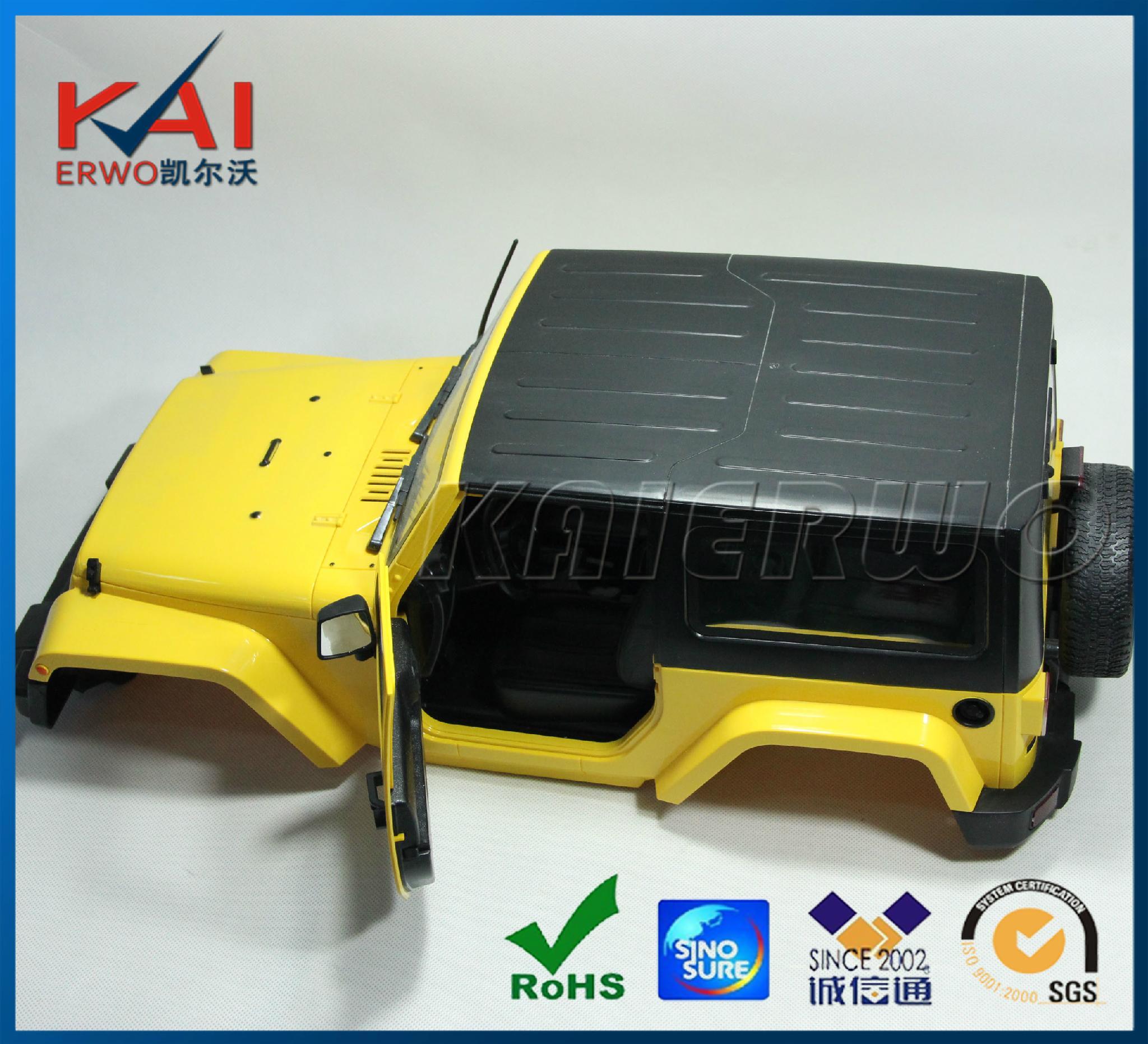 CNC Machining plastic car model assembly 1