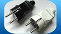 European style power supply plug