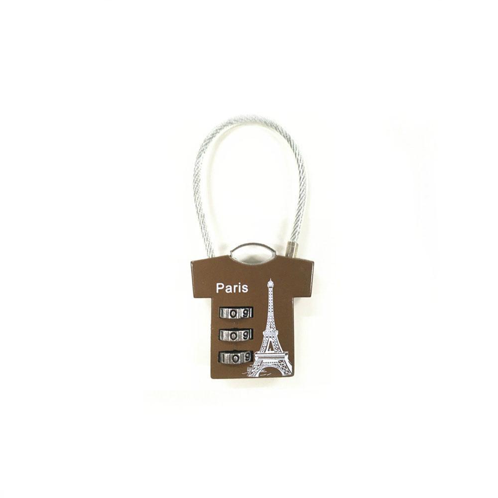 T-shirt shape lock 3 digital combination lock for bag safe 1