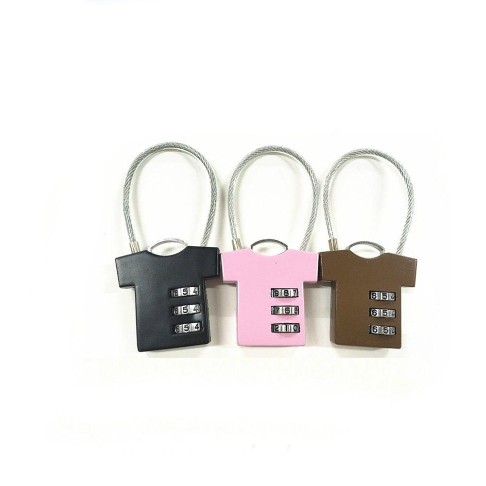 T-shirt shape lock 3 digital combination lock for bag safe 2