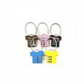 T-shirt shape lock 3 digital combination lock for bag safe 4