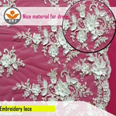 wholesale new design rayon lace fabric for wedding dress