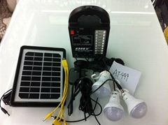 AT-999 hot selling solar lighting system for bulbs ,USB charger