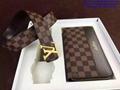 LV 1:1 Belt Wallet Set  Louis Vuitton Belt Wallet Bally Original Packing Belt