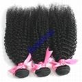 Human hair Virgin Hair Brazilian Peruvian Indian Malaysian Curly body loose Wave 3