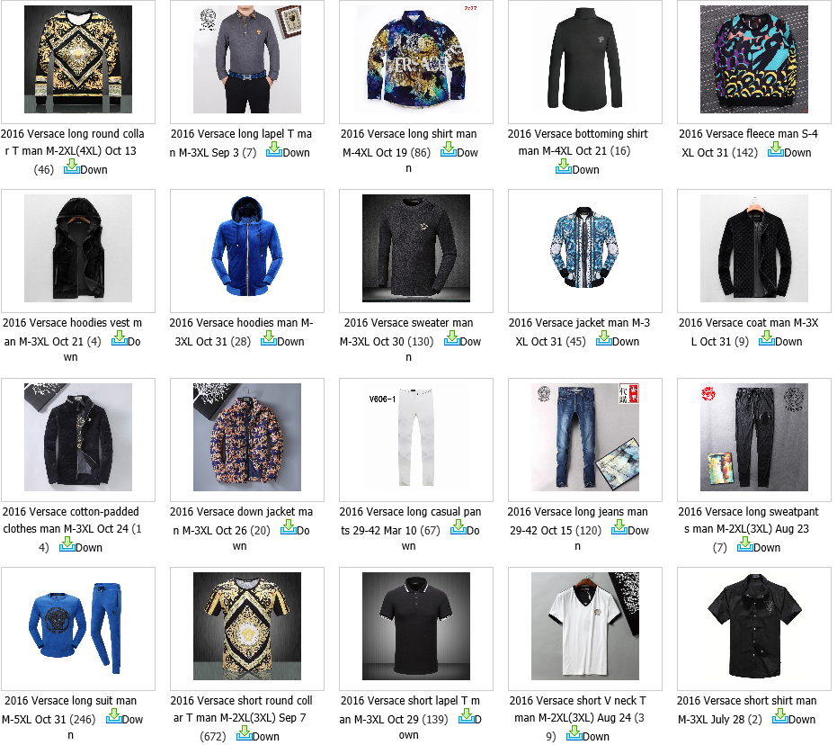 High quality Versace hoody sweat shirt men Jacket jeans hoody belt sunglass 18