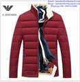 Armani men jacket Armani fashion men clothes down coat 3