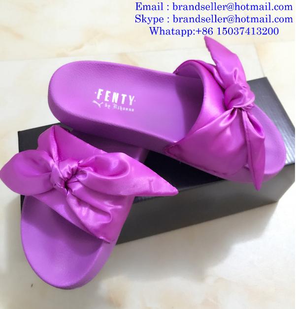 4b2ce32decbcb6 ... Rihanna Puma Flip Flops Puma X Fenty Bandana Slide Sandals Puma Bow Tie  Slippers 3 ...