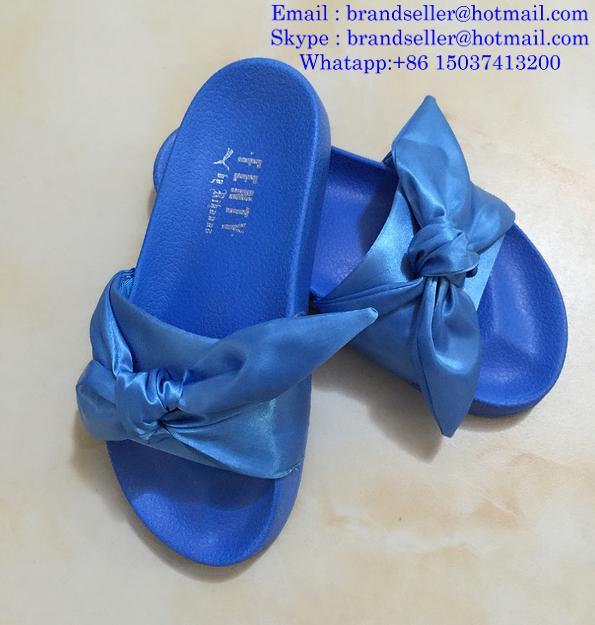 23a40a545b0c ... Rihanna Puma Flip Flops Puma X Fenty Bandana Slide Sandals Puma Bow Tie  Slippers 8 ...