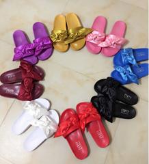 Rihanna Puma Flip Flops Puma X Fenty Bandana Slide Sandals Puma Bow Tie Slippers