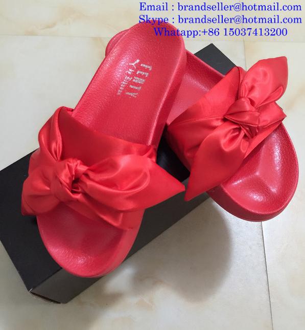 ae1bc4990985 ... Rihanna Puma Flip Flops Puma X Fenty Bandana Slide Sandals Puma Bow Tie  Slippers ...