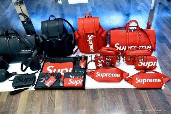 LV+Supreme  backpack luggage