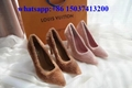 Louis Vuitton pink wool heels newest style lv heels