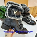 Lv fur boots Louis Vuitton women winter boot wool shoes