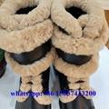 Lv fur boots Louis Vuitton women winter boot wool shoes