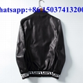 Versace leather jacket men coat leather clothes versace leather coat M-XXXL