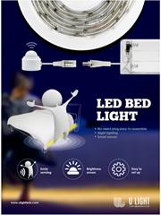 Smart LED Bed Night Light Automatic Motion Sensor Dream Under Bed Motion Sensor