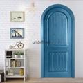 HONMAX modern Mediterranean style interior unique solid wood arch door