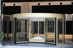 Commercial Four-wing Revo  ing Doors with Speed Control Function