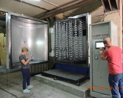 vacuum aluminum silver coated plastic equipment