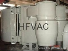 Tungsten resistance evaporation metallizer vacuum plate machine