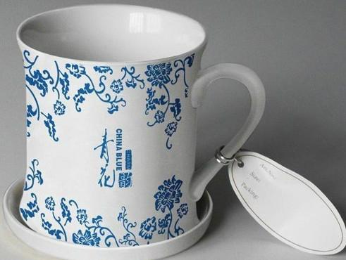 深圳陶瓷带广告杯定做 3